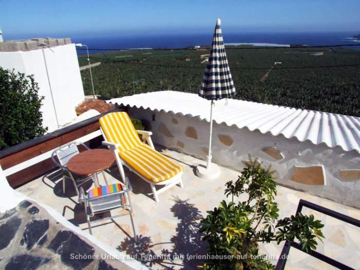 Typisch Kanarisches Haus Mit Dachterrasse Und Garten In El Guinchon
