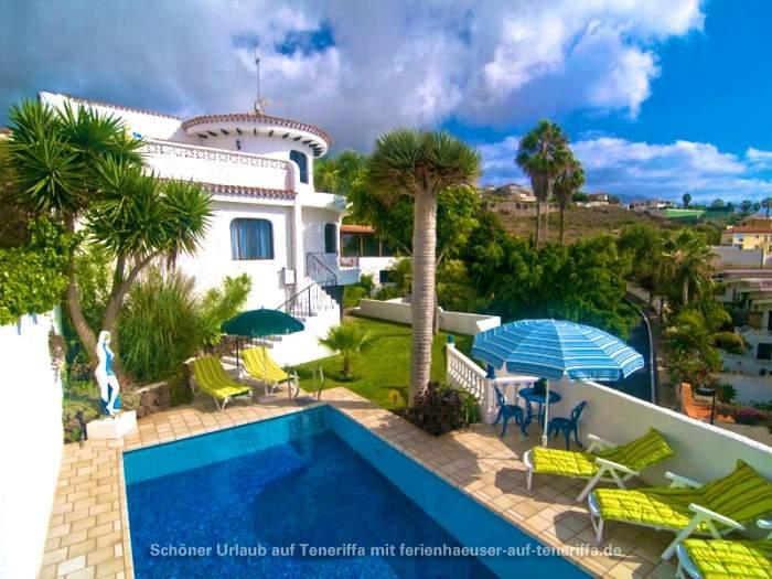 Ferienhaus Teneriffa Mit Pool , Teneriffa Villa Mit Privatpool In Ruhiger Meerlage Von El Sauzal