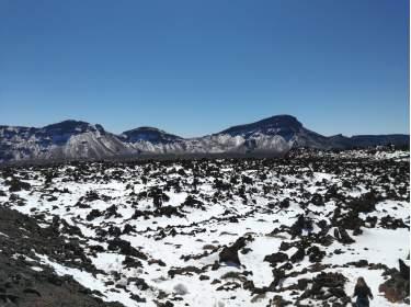 Die Cañadas auf Teneriffa im Schnee