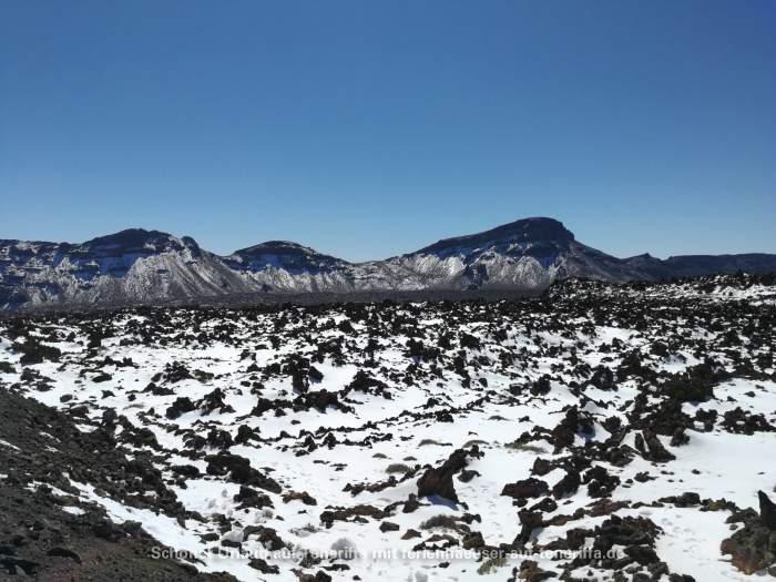 Cañadas del Teide im Schnee