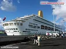 Schiff im Hafen von Arrecife auf Lanzarote